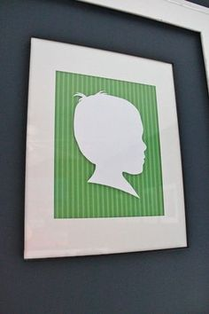 Make your own custom silhouette...quick, easy, cheap and gorgeous! http://thesoulfulhouse.com/2011/12/how-to-make-silhouettes/