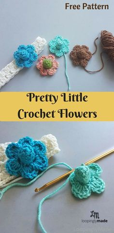 Crochet Flower Patterns Pretty crochet flowers - This Pretty Little Flower is one of the cutest piece of craft you can make. With its simple yet pretty design it is sure to add beauty to your crochet items Crochet Puff Flower, Bag Crochet, Crochet Flower Patterns, Crochet Slippers, Love Crochet, Crochet Gifts, Beautiful Crochet, Crochet Designs, Crochet Flowers