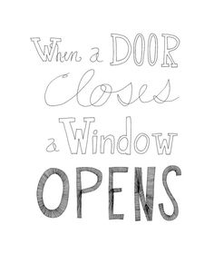 When a Door Closes a Window Opens 8x10 Typography Inspirational Quote Print on Etsy