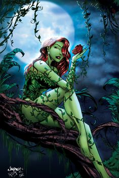 """""""The best way to get rid of Temptation, is to yield to it"""" - that was kinda the idea with this piece ;D Well, I know I haven't written my rAge roundup j. Poison Ivy by davelungart - PINK LITE DISTRICT XGX Poison Ivy Comic, Dc Poison Ivy, Poison Ivy Dc Comics, Poison Ivy Batman, Comic Book Characters, Comic Books Art, Comic Art, Posin Ivy, Pinup"""
