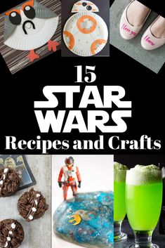 Celebrate Star Wars day with these awesome Star Wars Recipes and Crafts.
