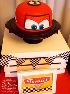 Cool Cake At A Disney Cars Birthday Party See More Planning Ideas CatchMyPrty