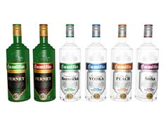 GAS FAMILIA - Kompletný dizajn fliaš a etikiet spoločnosti Gasfamilia, Stará Lubovňa. Vodka Bottle, Peach, Graphic Design, Atelier, Peaches, Visual Communication