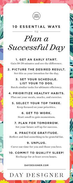 10 Essential Ways to Plan a Successful Day. Home organization starts with a good plan and great planner.
