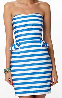 Love nautical stripes... Lilly Pulitzer Maybell Dress