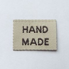 50 pcs of 20mm X 15mm Hand made Woven Label in Beige for craft