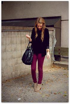 Art Symphony: Dressed in burgundy