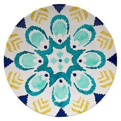 Dinner Plate Blue/Yellow : Target