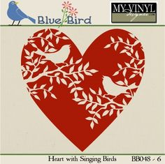 DIGITAL DOWNLOAD ... Valentine Vector in AI, EPS, GSD, & SVG formats @ My Vinyl Designer #myvinyldesigner #bluebird