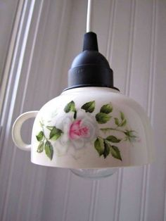 Lámparas hermosas hechas con Tazas - Hagamos Cosas