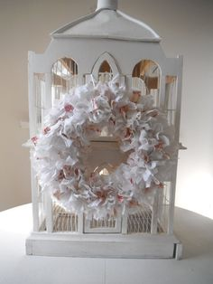 $42.50 french country wreath holiday wreath christmas by ShabbyRoad - use code SHABBYROAD for a 10% discount on product