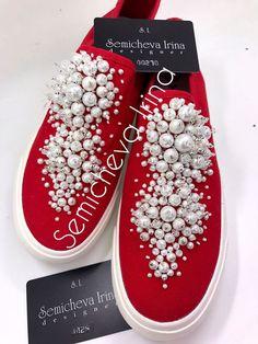 Обувь ручной работы. Ярмарка Мастеров - ручная работа. Купить Слипоны в стразах. Handmade. Слипоны, слипоны со стразами