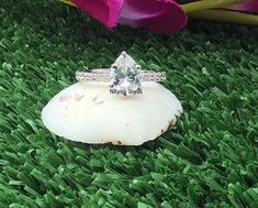 925 Silver 10K 14K 18K White Gold Ring 1 CT Pear Cut | Etsy Most Popular Engagement Rings, Diamond Engagement Rings, Ring Enhancer, Expensive Taste, Anniversary Rings, White Gold Rings, 925 Silver, Pear, Diamond Cuts