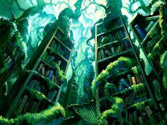 Lost Library by Denewer.deviantart.com on @deviantART