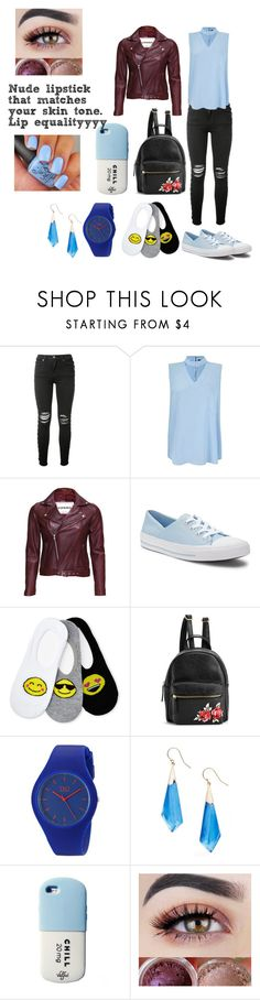 """""""Natural Blue"""" by missmassieisclassy ❤ liked on Polyvore featuring AMIRI, AX Paris, VIPARO, Converse, Capelli New York and Alexis Bittar"""