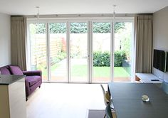 bifold door curtains