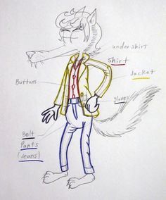 Big Bad Wolf he wearing clothes