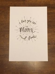 Hand lettering in pen and ink. Custom sizes and extra details available