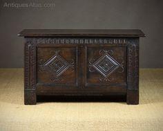 Small 19th.c. Oak Coffer. - Antiques Atlas