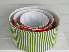 fabric baskets! Cute for organizing! I'm thinking for in our closet or in the laundry area next year!! :)