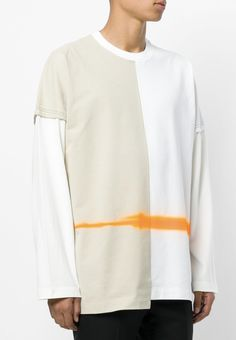 MAISON MARGIELA layered T-shirt with stripe from Farfetch (ad, men, style, fashion, clothing, shopping, recommendations, stylish, menswear, male, streetstyle, inspo, outfit, fall, winter, spring, summer, personal)