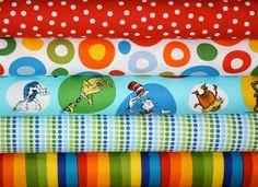 Dr Suess Fabric by Robert Kaufman Fat Quarter by fabricshoppe, $15.00