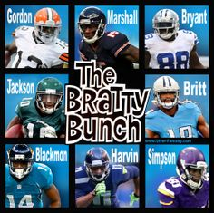 """The Bratty Bunch By Utter-Fantasy's Doug Bowles  Oh…the Bratty Bad Wide Receivers of the NFL!  They've all been sent to """"Time Out!""""…a few times. Along with their VERY high fantasy potential, comes their VERY high maintenance.  A migrane for fantasy owners in keeper leagues, because there is NO guarantee that any of these guys, will start week one of the 2014 regular season.   Read more…    http://utter-fantasy.com/the-bratty-bunch/"""