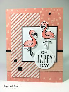 Stamp with Sandy: Happy Flamingos