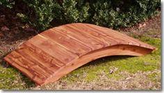 5 foot cedar high arched footbridge