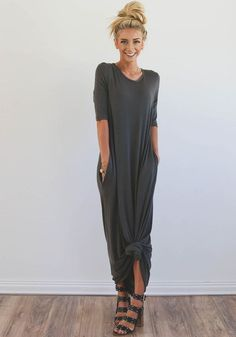 «Womens Fashion On A Budget» * Does have pockets! This dress is not lined, but does not need a slip I tied this knot in these product images! It does not come pre tied in the bottom. (See all images) I'm 5'3 wearing size small Si