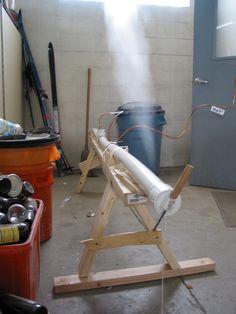 Homemade wood steamer.