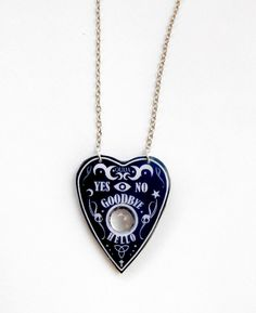 Ouija Necklace Ouija Planchette Ouija Jewery Ouija necklace Magical Necklace- Goth Jewelry Goth Necklace Halloween Necklace by CaramelaHandmade on Etsy https://www.etsy.com/ca/listing/464410328/ouija-necklace-ouija-planchette-ouija
