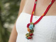 Necklace Ethnic Handmade Crochet Beaded Unique Statement