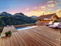 Splendid chalet in secluded location with pool & spa - sleeps 12. Fabulous views, open fire, sunny balconies, garden and terrace. Geneva airport 1hr