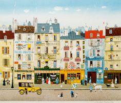 Paris Street Scene - Michel Delacroix