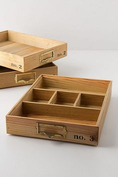 Stacking Wood Trays from Anthropologie Wood Tray, Wood Boxes, Stacking Wood, Desk Tray, Anthropologie, Drawer Dividers, Jewellery Boxes, Jewelry Box, Desk Organization