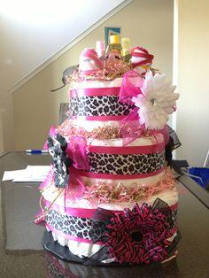 Diaper cake I made!