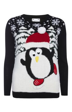 Primark - Musical Penguin Christmas Jumper I own the christmas jumper with lights and the one which looks like an advent calendar. Definite purchases that i would recommend to anyone! I managed to get the advent one for :) Christmas Jumpers With Lights, Best Christmas Jumpers, Christmas Jumper Day, Festive Jumpers, Knitted Christmas Jumpers, Holiday Sweater, Christmas Knitting, Christmas Baby, Christmas Shirts