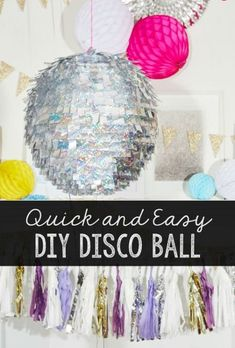 dance party Make Your Own Quick and Easy Disco Ball for New Years Eve or any time. Its a fun party idea and perfect for summer dance parties. Disco Theme Parties, Disco Party Decorations, Dance Parties, Kids Disco Party, Dance Party Themes, Dance Party For Kids, New Years Eve Party Ideas Decorations, Soccer Party, Ideas Party