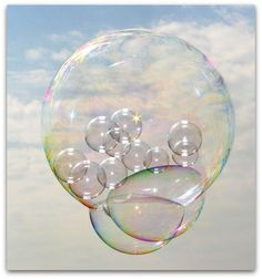Art Symphony: Paper thin bubbly bubbles...