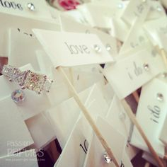 Wedding Cupcake Flags by passforparties on Etsy, $6.00