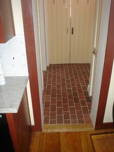 transition from wood to brick