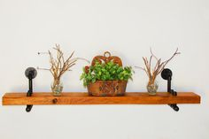 Industrial Pipe and Reclaimed Wood Shelf by rdsoifer on Etsy, $175.00