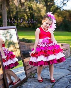 Francesca's Frilly Ruffle Dress by Create Kids Couture is a great party dress for your little sweetie! This pdf sewing pattern for girls can be made with quilter's cotton or more dressy fabrics for a special occasion.