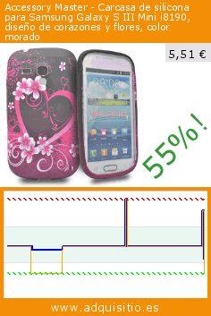 Accessory Master - Carcasa de silicona para Samsung Galaxy S III Mini i8190, diseño de corazones y flores, color morado (Accesorio). Baja 55%! Precio actual 5,51 €, el precio anterior fue de 12,20 €. https://www.adquisitio.es/accessory-master/carcasa-silicona-samsung-0