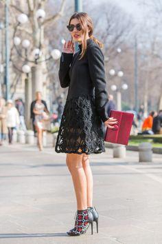 Streetlooks à la Fashion Week automne-hiver 2014-2015 de Milan
