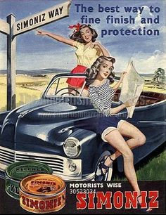 old simoniz wax ad where have all the pin up dolls gone are there any left out there