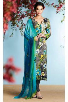 Office Wear Grey Georgette Salwar Kameez  - 80664