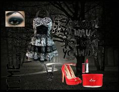 """skully night out!"" by limitededition16 on Polyvore"
