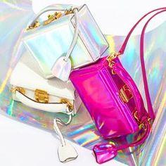 Holographic Mark Cross bags via Moda Operandi